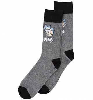 Men's Rick And Morty Big Faces Socks