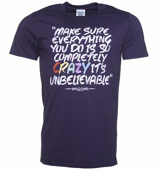 Men's Roald Dahl Matilda Completely Crazy Blackberry T-Shirt