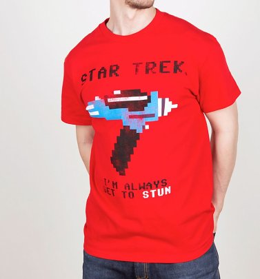 Men's Star Trek Always Set To Stun T-Shirt