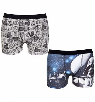 Men's Star Wars Galactic 2 Pack Boxer Shorts