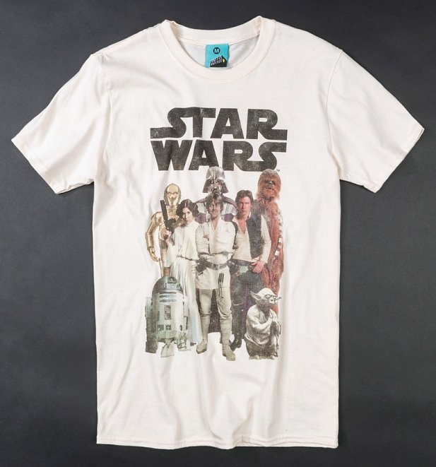 Men's Star Wars Group Shot Natural T-Shirt