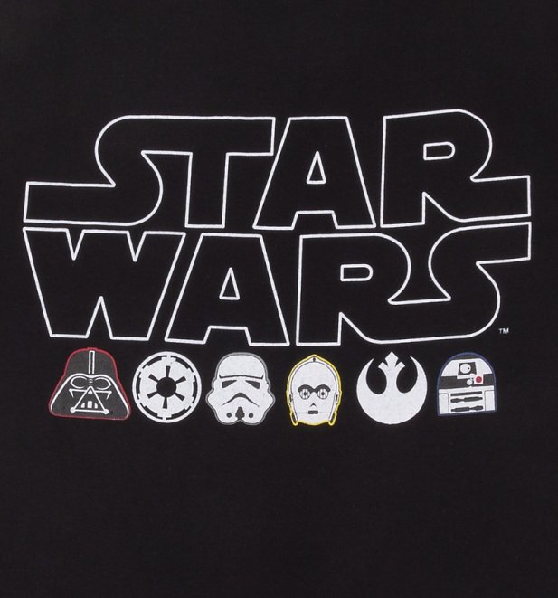 Men's Black and White Star Wars Pyjamas
