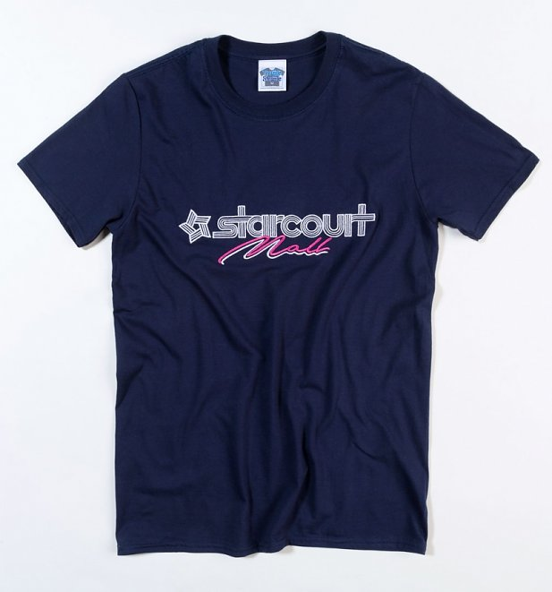 Men's Stranger Things Inspired Starcourt Mall Embroidered T-Shirt