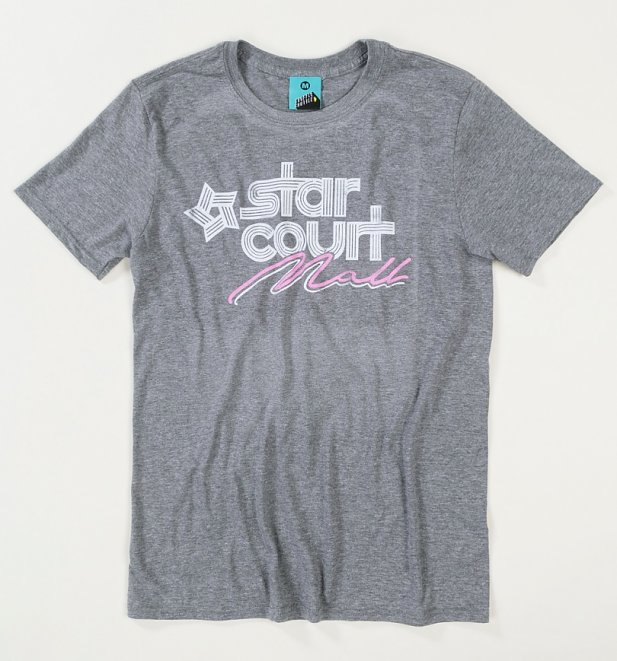 Men's Stranger Things Inspired Starcourt Mall Grey T-Shirt
