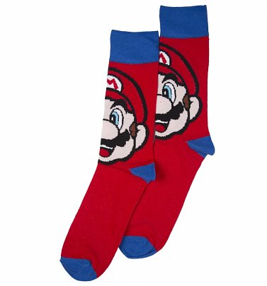 Men's Super Mario Brothers Mario Socks
