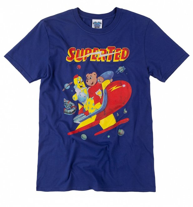 Men's SuperTed Space Scene Metro Blue T-Shirt