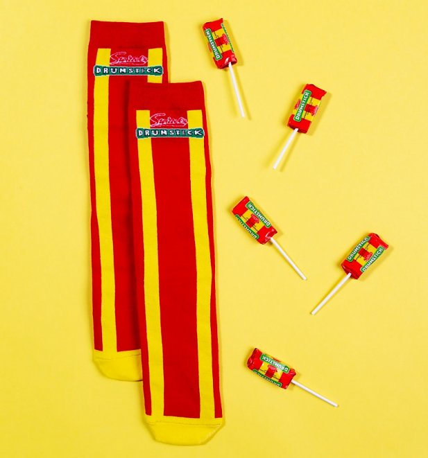 Men's Swizzels Drumstick Socks and Sweets Set