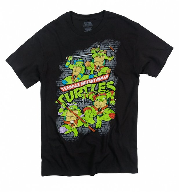 Men's Teenage Mutant Ninja Turtles Fearsome Fighting Team T-Shirt