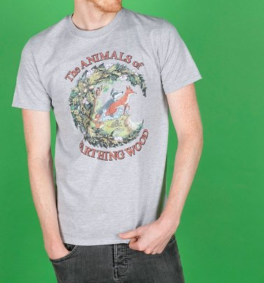 Men's The Animals Of Farthing Wood Sport Grey T-Shirt