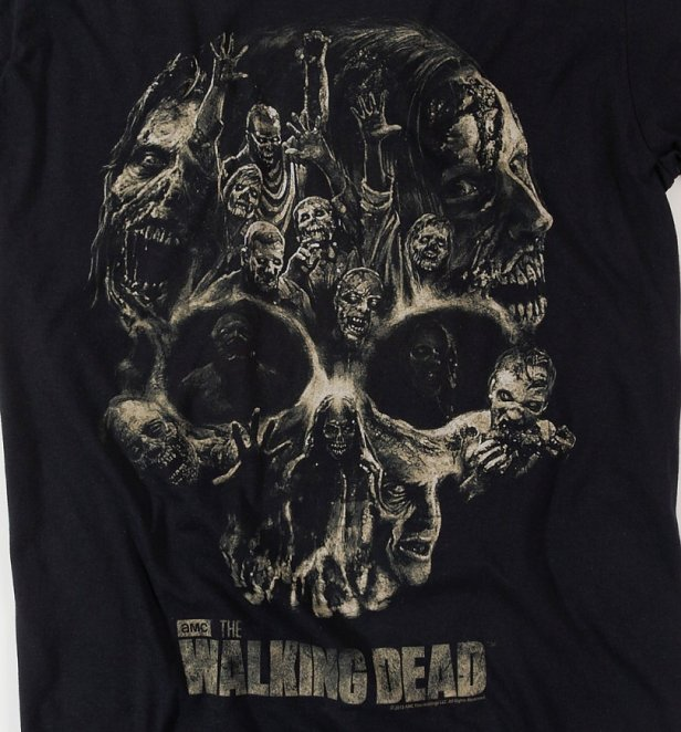 Men's The Walking Dead Skull T-Shirt