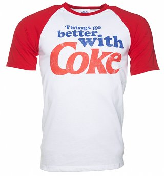 Men's Things Go Better With Coke Short Sleeve Baseball Tee