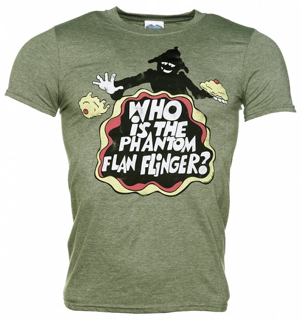 Men's Tiswas Phantom Flan Flinger Heather Green T-Shirt