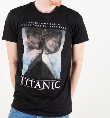 Men's Titanic Movie Poster Black T-Shirt