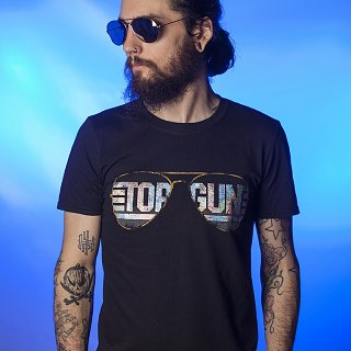 Men's Top Gun Aviators Holographic T-Shirt