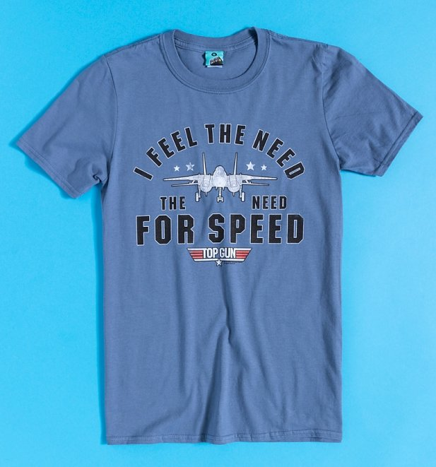 Men's Top Gun Need For Speed Indigo Blue T-Shirt