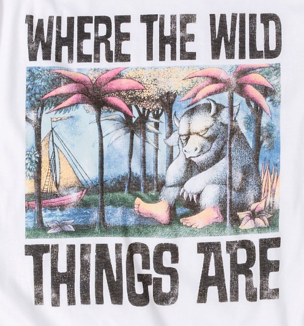Men's Where The Wild Things Are Book Cover Ecru T-Shirt