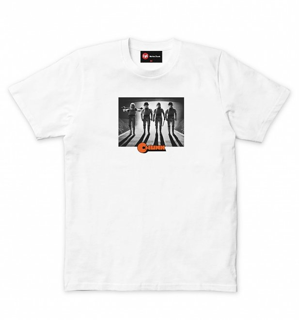 Men's White Clockwork Street Gang Star Wars T-Shirt from Chunk