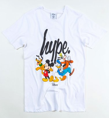 Men's White Disney Squad Script T-Shirt from Hype