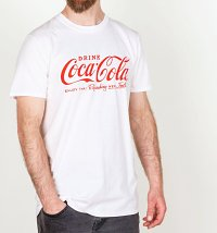 Men's White Drink Coca-Cola Logo T-Shirt