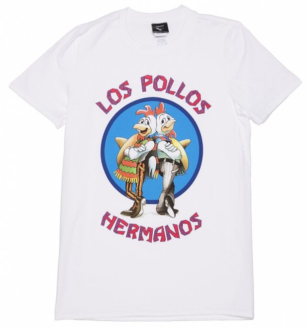 Men's White Los Pollos Hermanos Breaking Bad T-Shirt