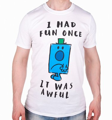 Men's White Mr Grumpy I Had Fun Once T-Shirt