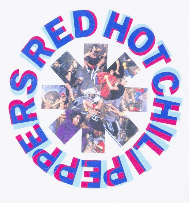 Men's White Red Hot Chili Peppers Freaky Styley T-Shirt from Amplified