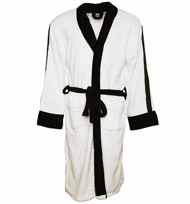 Men's White Star Wars Fleece Stormtrooper Embossed Dressing Gown