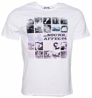 Men's White The Jam Sound Affects T-Shirt from Amplified