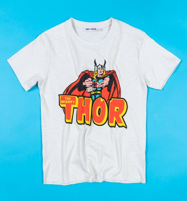 Men's White Thor T-Shirt from Fabric Flavours