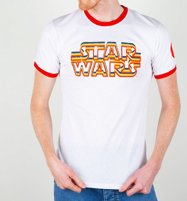 Star Wars Retro Logo Ringer T-Shirt