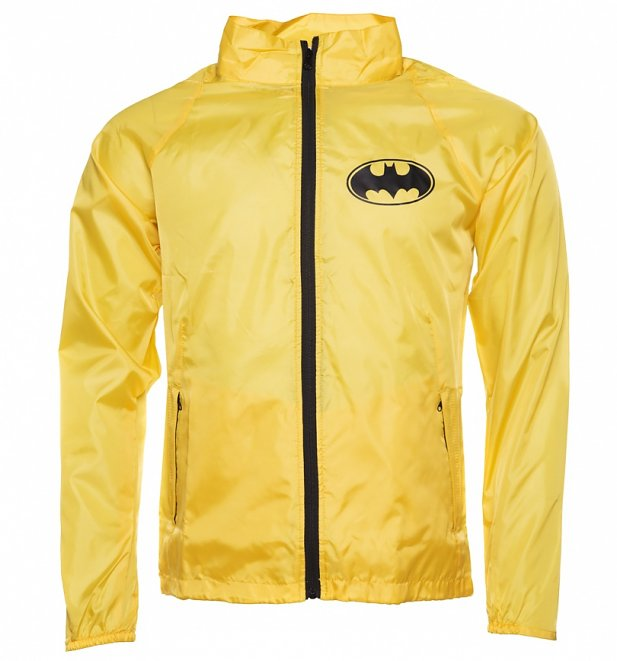 Men's Yellow DC Comics Batman Windbreaker Jacket