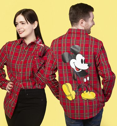 Mickey Mouse 90s Flannel Shirt from Cakeworthy