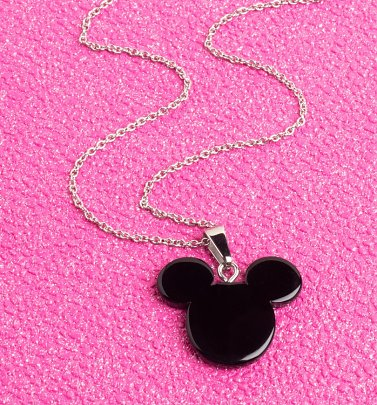 Mickey Mouse Black Necklace