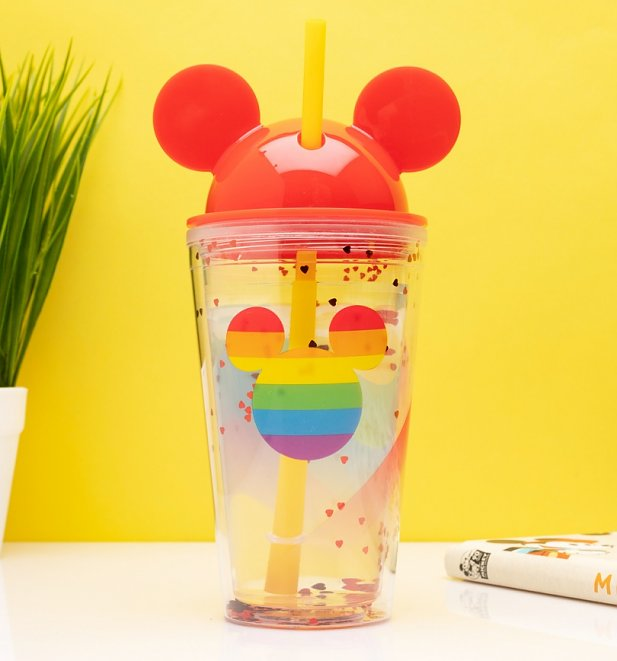 Mickey Mouse Rainbow Cup with Straw from Funko