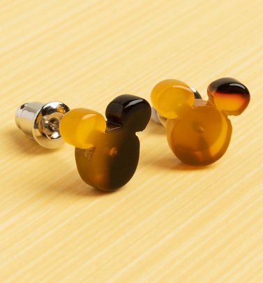 Mickey Mouse Tortoiseshell Stud Earrings