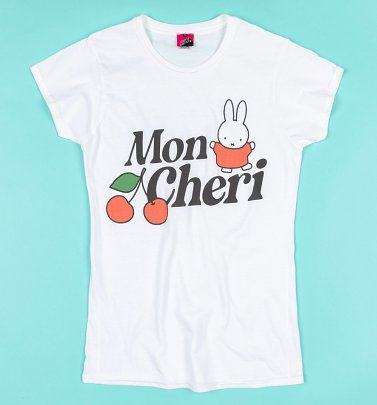 Miffy Mon Cheri White Fitted T-Shirt