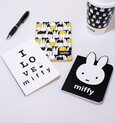 Miffy Set Of Three A6 Notebooks