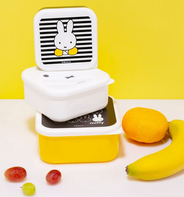 Miffy Set Of Three Snack Boxes