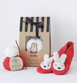 Miffy Slippers Crochet Kit from Stitch and Story