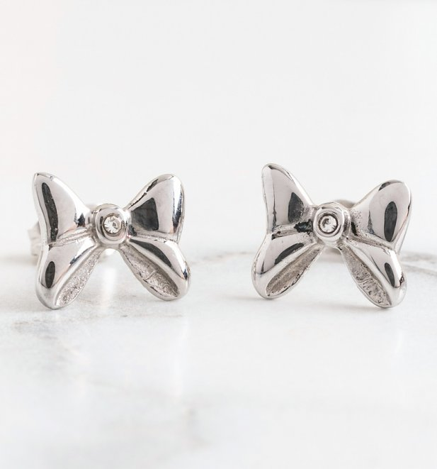 Minnie Mouse Bow Stud Earrings