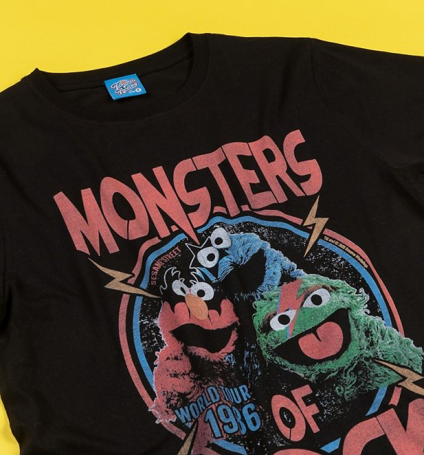 Monsters Of Rock Black Sesame Street T-Shirt