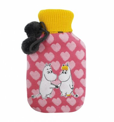 Moomin Pink Hearts Hot Water Bottle