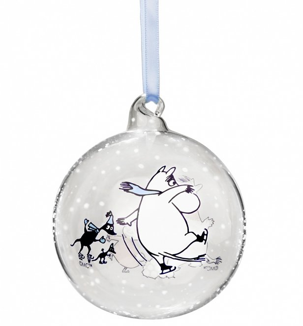 Moomin Snowball Fight Christmas Bauble