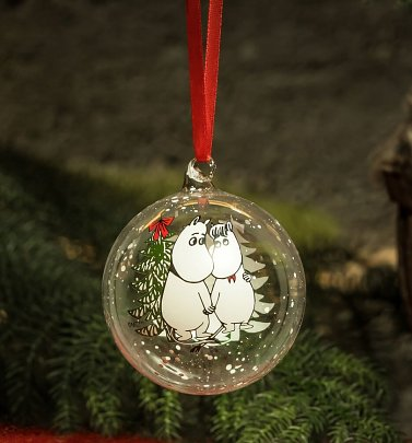 Moomin and Snorkmaiden Hug Christmas Bauble