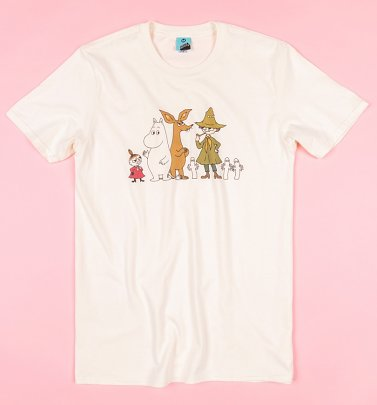 AWAITING APPROVAL PPS SENT 26/5 Moomins Line Up Ecru T-Shirt