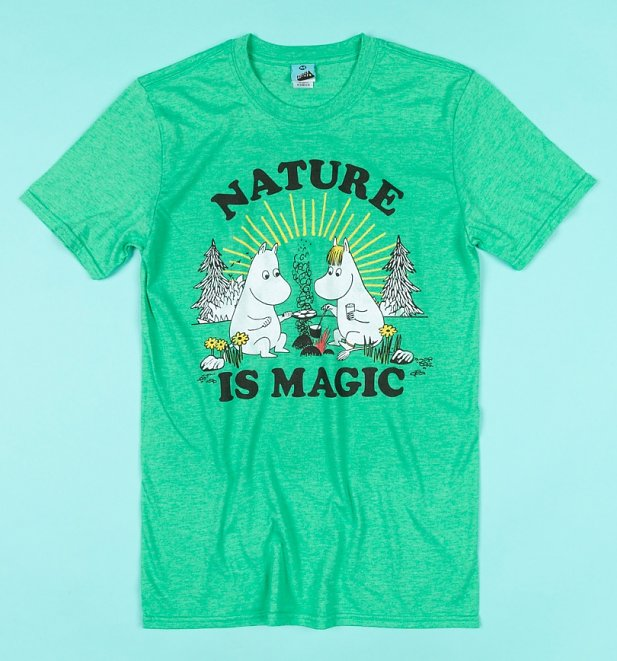 Moomins Nature Is Magic Green Marl T-Shirt