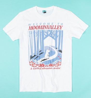 Moomins Welcome To Moominvalley White T-Shirt