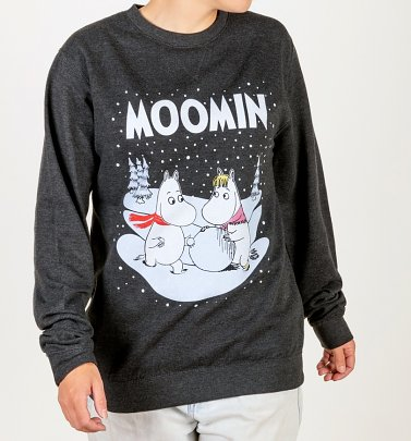 Moomins Winter Scene Black Sweater
