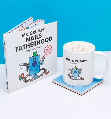 Mr Grumpy Nails Fatherhood Mug and Book Gift Set