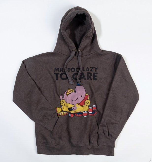 Mr Lazy Too Lazy To Care Hoodie